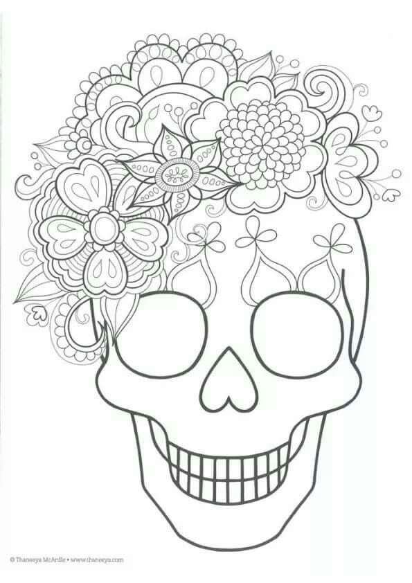 Pin de Phina Moran en DÍA DE MUERTOS | Pinterest | Coloriage ...