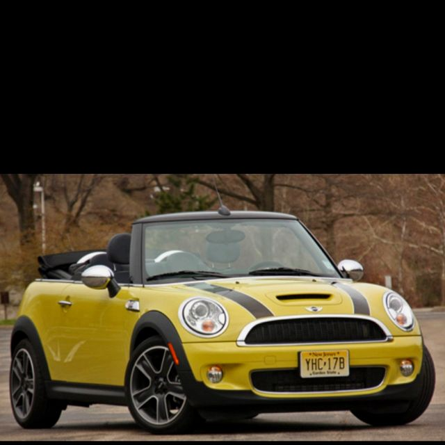 Mini Cooper S Convertible Yellow This One Is Sharp