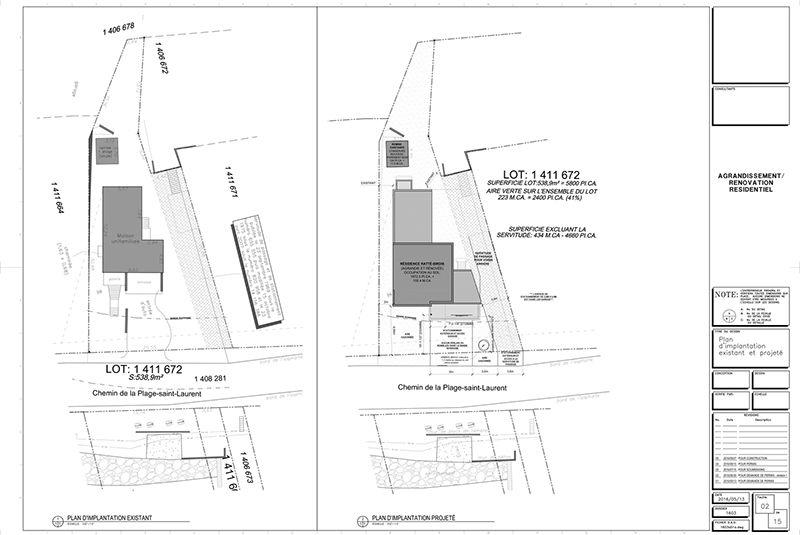 Exemple De Plans Pour Ajout Du0027étage Et Rallonge De Maison: (page 2) 2  Exemple  Plan Agrandissement Maison Vue Oiseau. Consutez Tous Les Exemples De Plans  ...