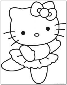 Kitten Coloring Pages Preschool And Kindergarten Hello Kitty Drawing Hello Kitty Coloring Hello Kitty Colouring Pages