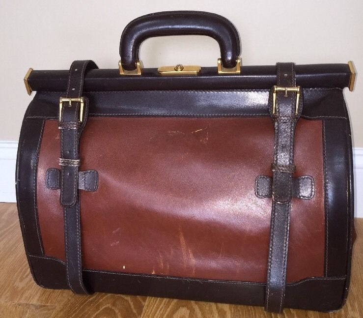 Madler New York Satchel Doctor Bag Vintage Brown Duffle Luggage