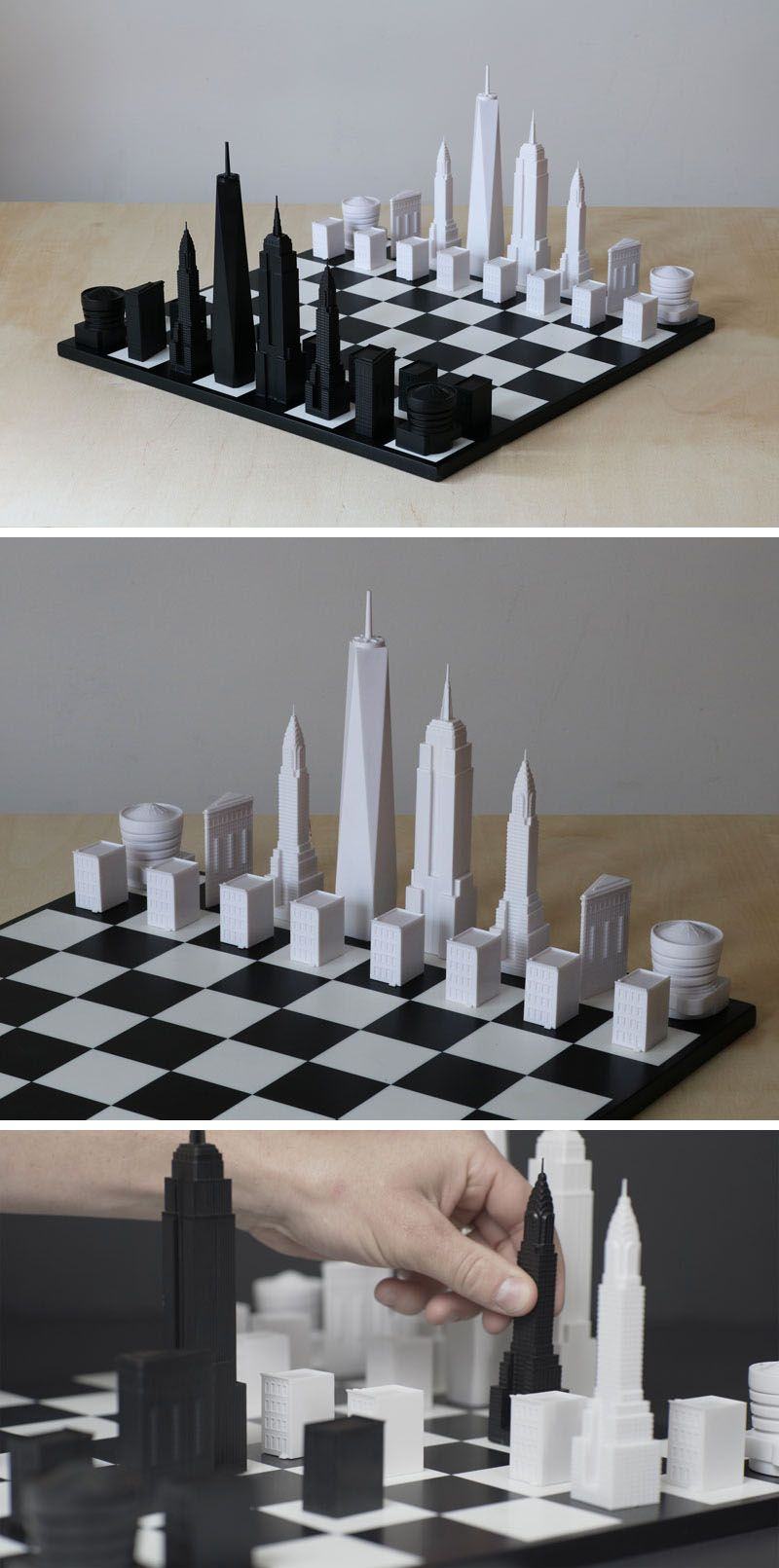 New York City Architectural Chess Set