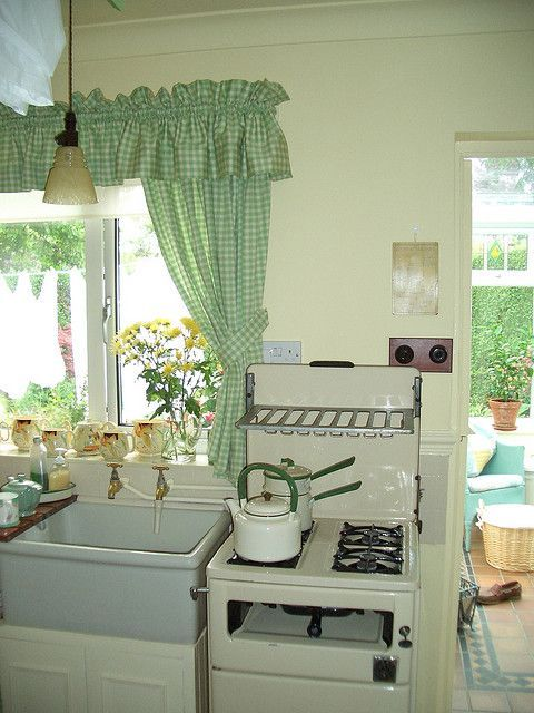Aren't Little Old Stoves Unique  ~ ♢ Farmhouse Rustic Vintage Captivating Unique Kitchen Curtains Decorating Design