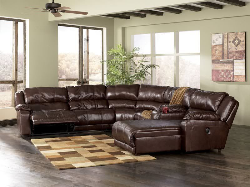 Intrigue Contemporary Genuine Leather Recliner Sofa