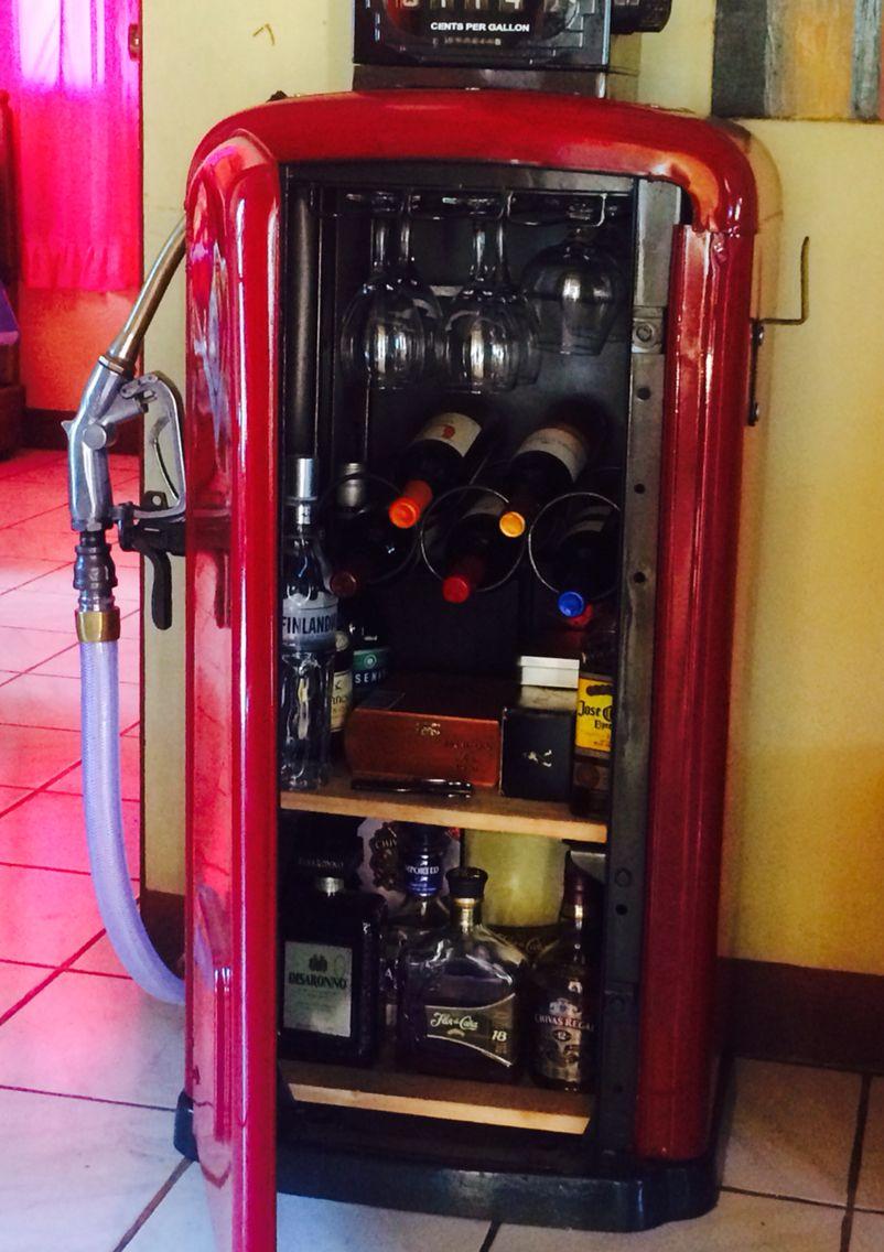 Gas pump vintage man cave bar with images vintage