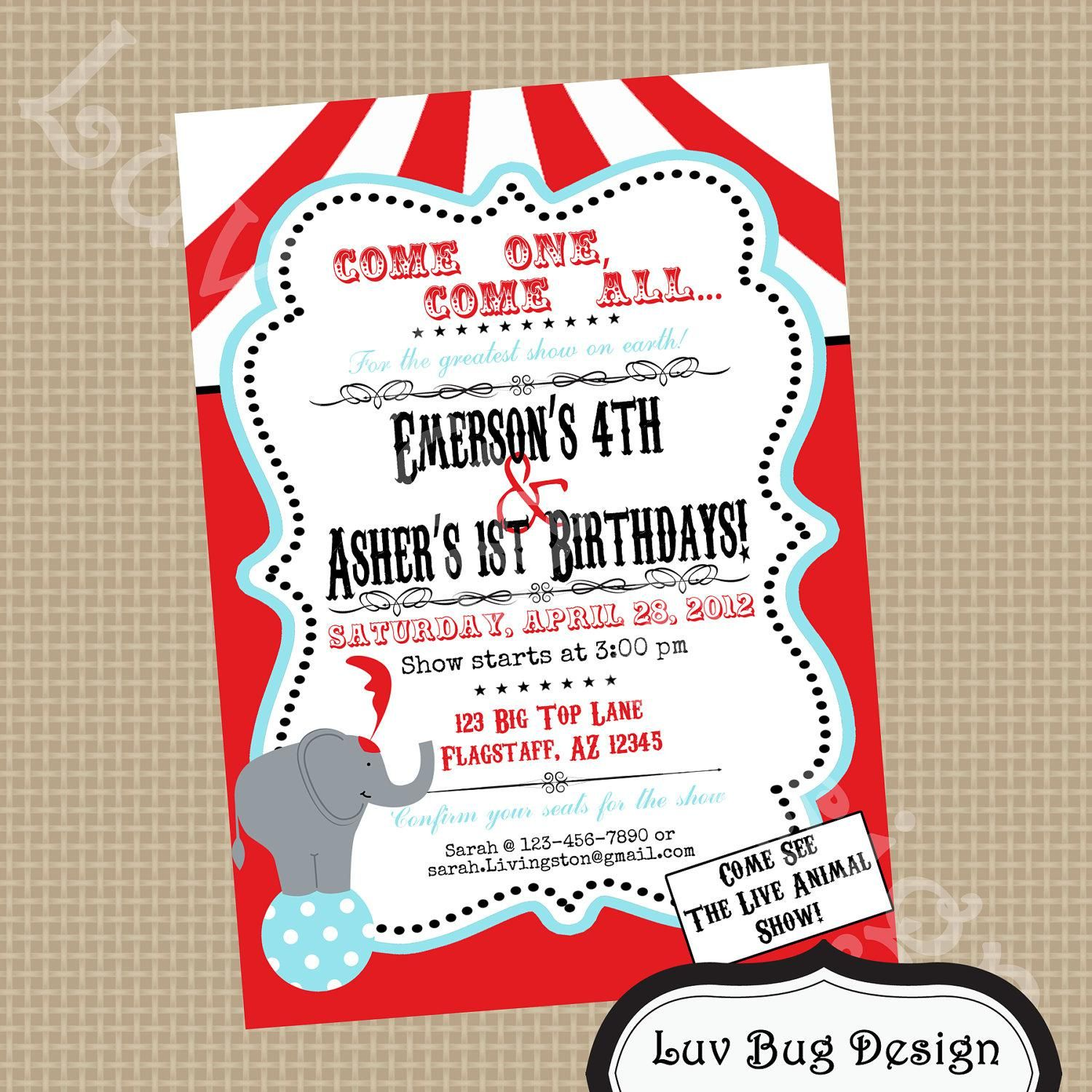 Carnival Party Invitations Free | Invitations Card by Silverlining ...