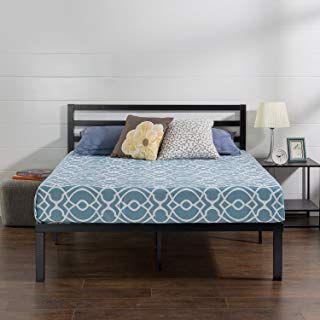 Best Amazon Com Queen Platform Bed Metal Platform Bed Bed 640 x 480