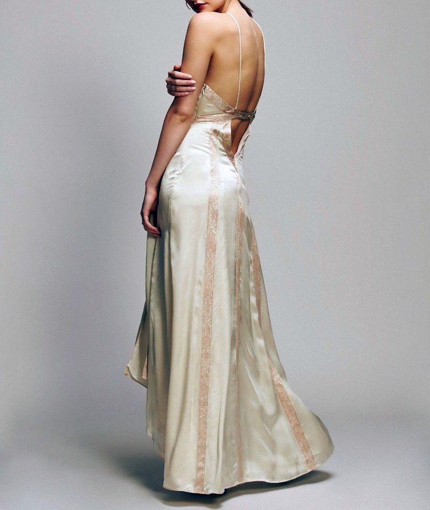 a83a26491196 Free People Moonbeams Silk Maxi Dress 2 NWT Ivory #FreePeople #EmpireWaist  #any