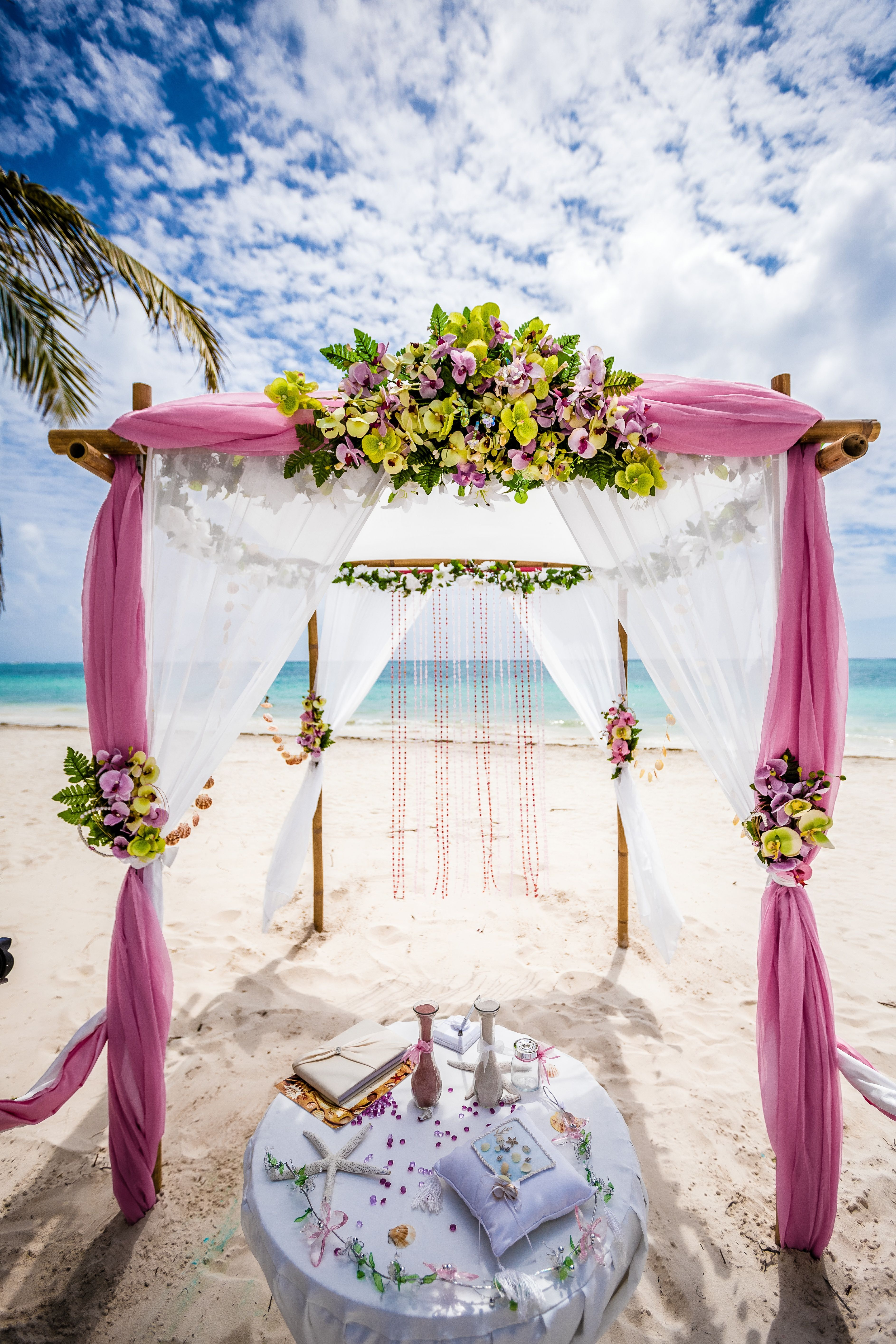 Absolutely Epic Photo Of Bamboo Gazebo And Decorated Wedding Table