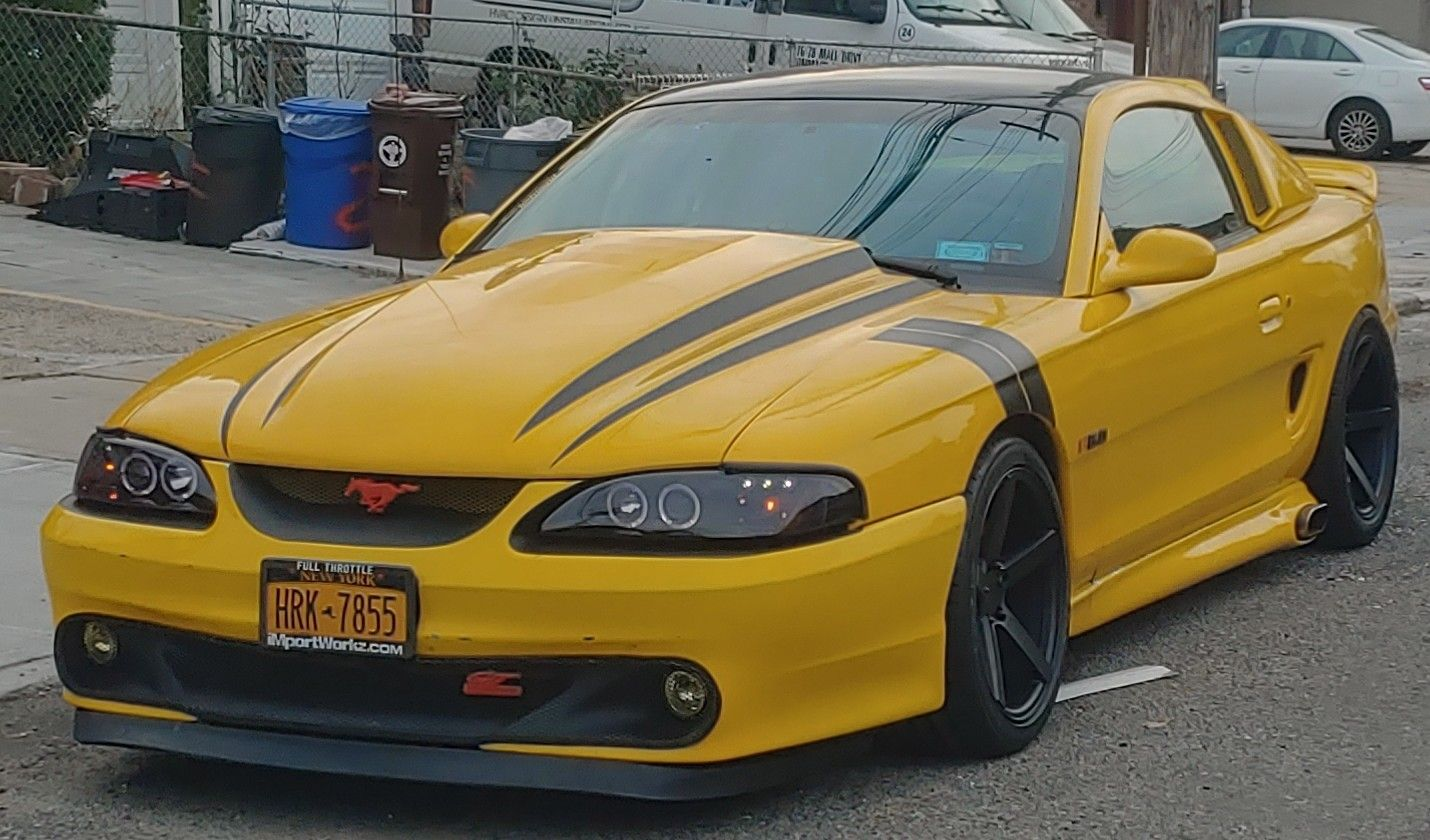 Mustang Gt Sn95 Mustang Mustang Gt Yellow Mustang