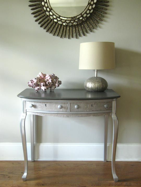 Gilded Cork And Silver Console Table