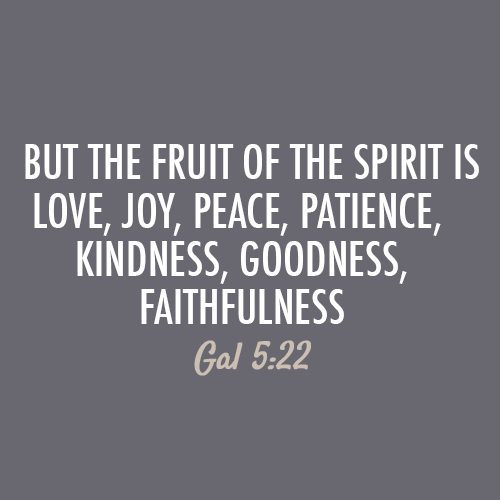 But The Fruit Of The Spirit Is Love Joy Peace Patience Kindness