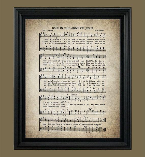 Safe In The Arms Of Jesus Print Hymnal Sheet Sheet Music Etsy Hymn Art Hymns Lyrics Hymn Print