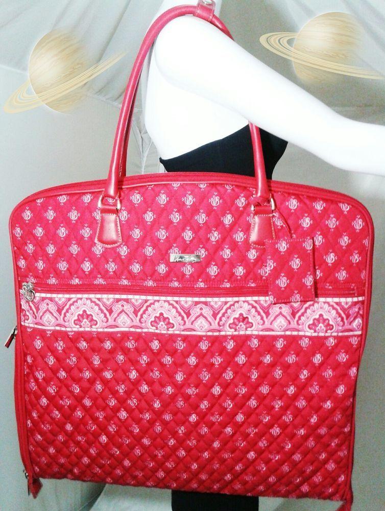 bc020a4a91 Vera Bradley Red Garment Bag Travel Tote Quilted Signature Retired Bag   VeraBradley  GarmentBag