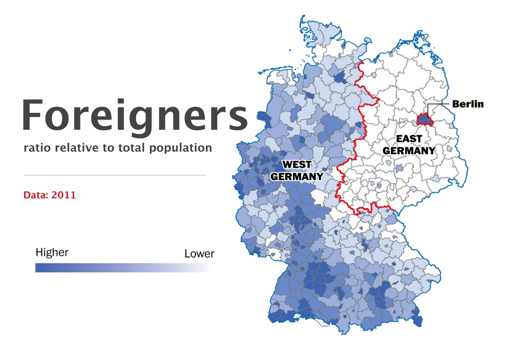 the berlin wall fell 25 years ago but germany is still divided