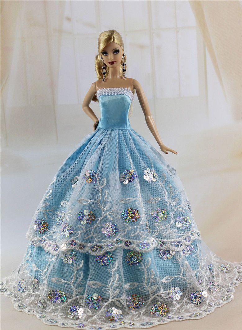 Lot 16 items = 6 PCS Dress/Wedding Clothes/Gown+10 Shoes For Barbie ...