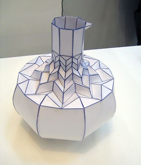 Paper Vase By Romy Kuhne Paper Creations Pinterest Origami