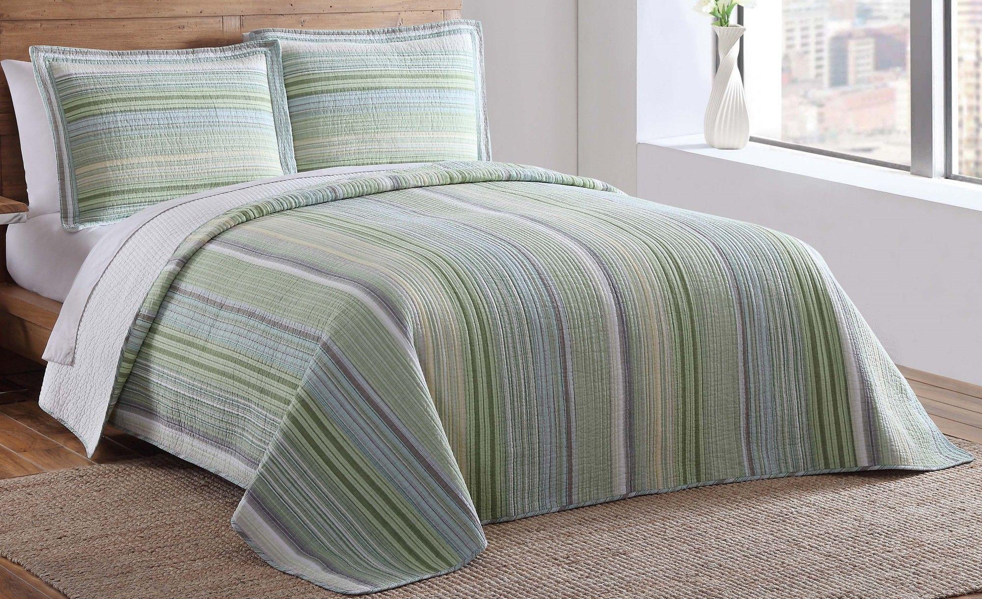 Green Point Quilt Set