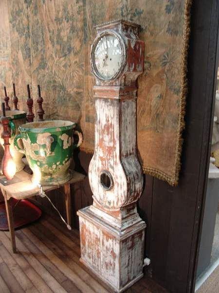 Antique Gustavian Swedish Mora Clock With Old Paint Sold Antique Gustavian Clock Antiques