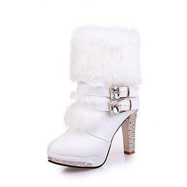 e26d4476 Botas Tacón Para Confort El Heart Mujer Casual Stiletto Tobillo Pu Hasta  Invierno Botines Otoño Zapatos amp;m Yw8qpwR0