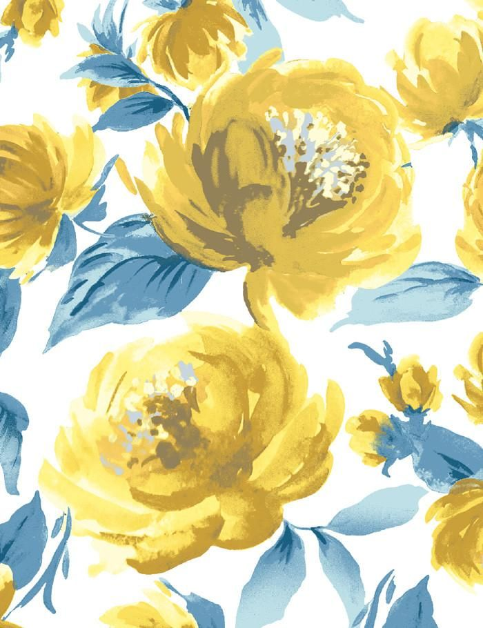 Veronica Yellow In 2020 Yellow Wallpaper Yellow Flower Wallpaper Wallpaper Roll