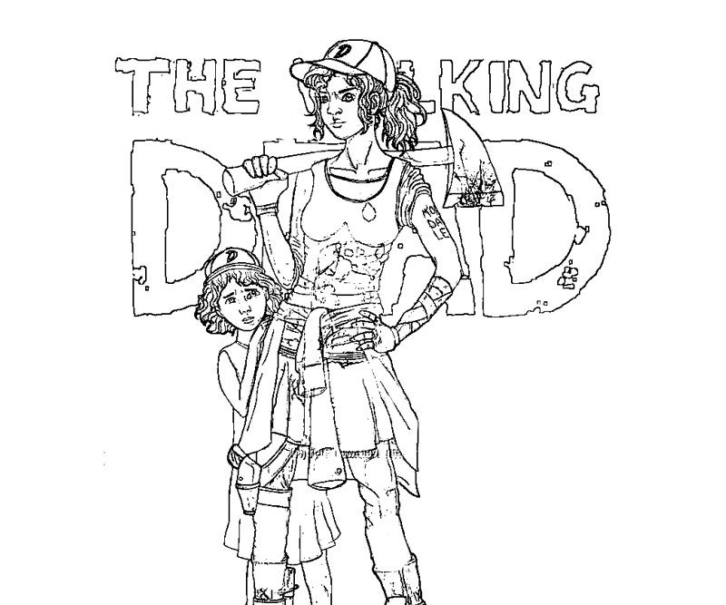 walking dead coloring pages | The Walking Dead Coloring