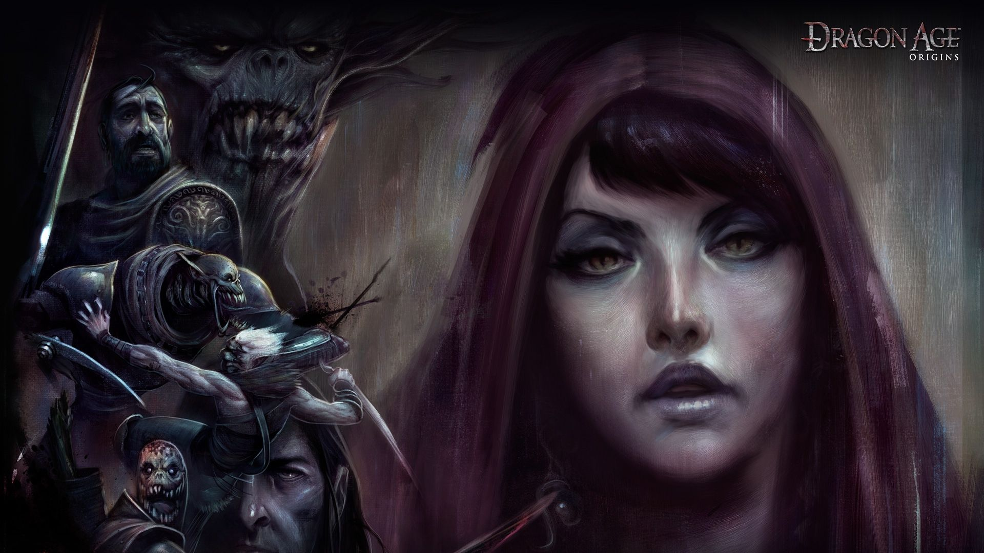 stunning dragon age origins girl face look monsters wallpaper