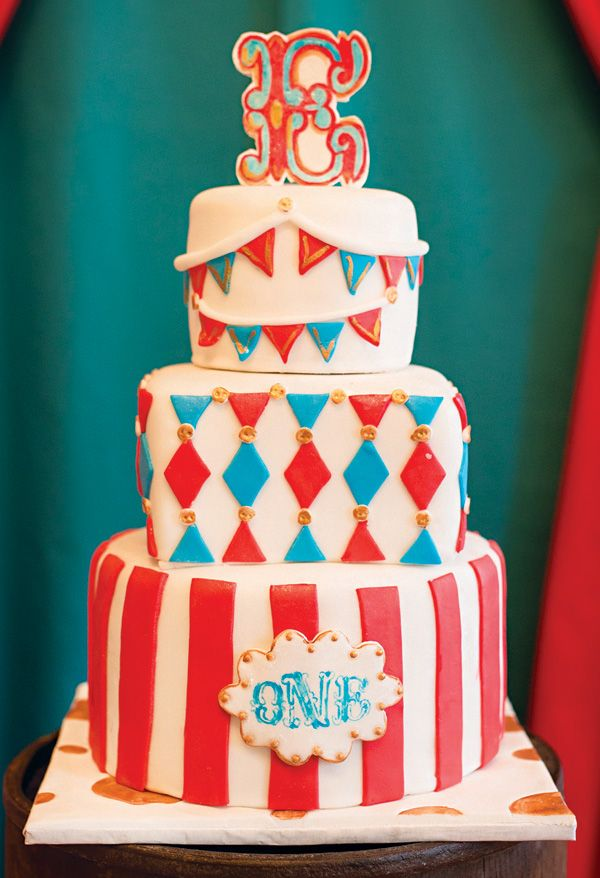Big Top Vintage Circus First Birthday Party Big Top Birthdays And