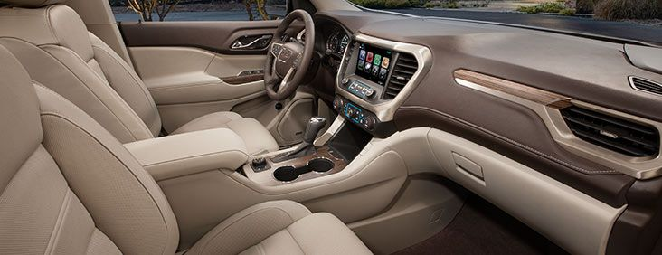 Refined Crafted Interior The Interior Of The 2017 Acadia Denali Mid Size Luxury Suv Is Engineered To Bring A Higher Level Of R Acadia Denali Mid Size Suv Gmc