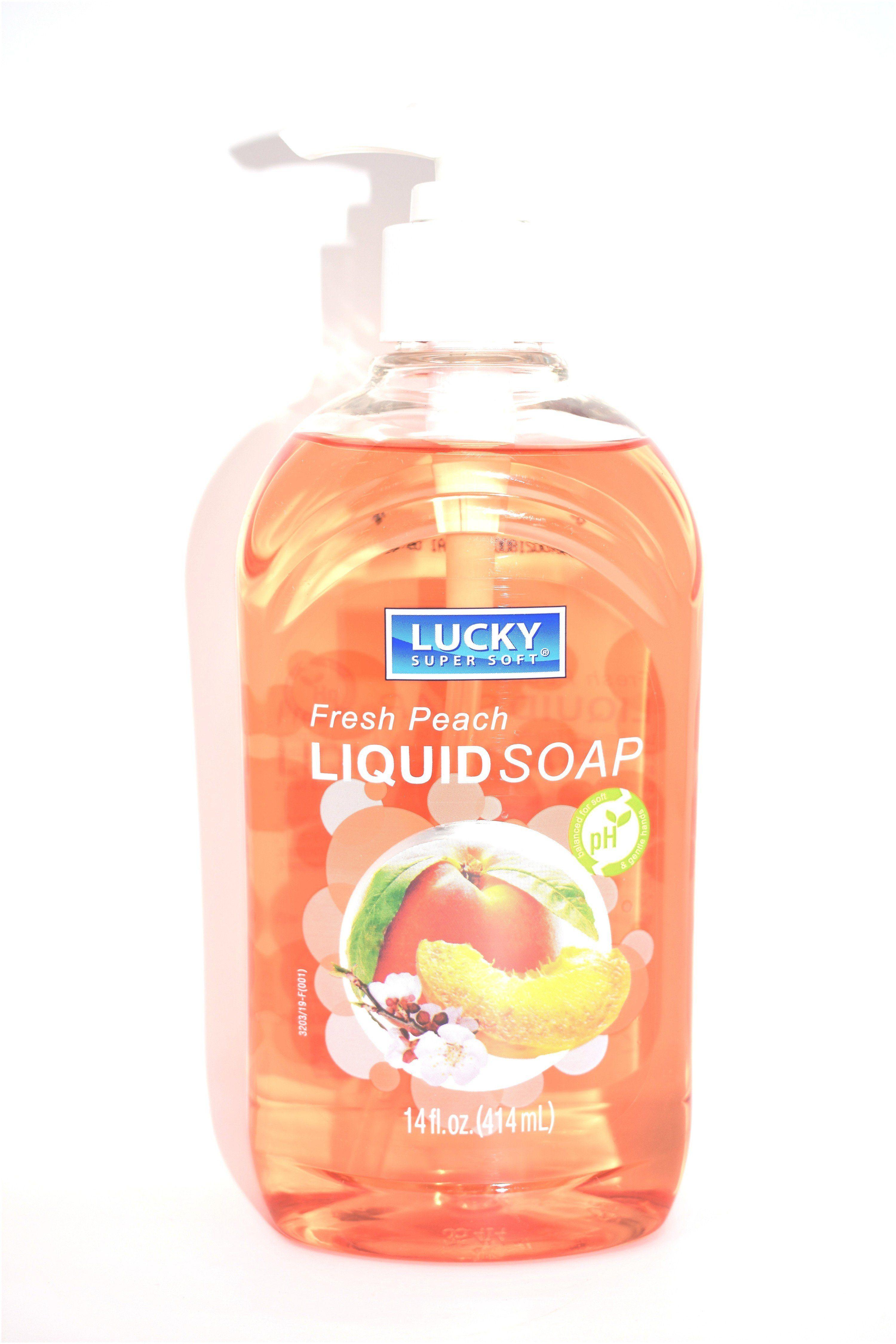 Lucky Soft Soap Fresh Peach Liquid Soap 14 Fl Oz Liquid Soap