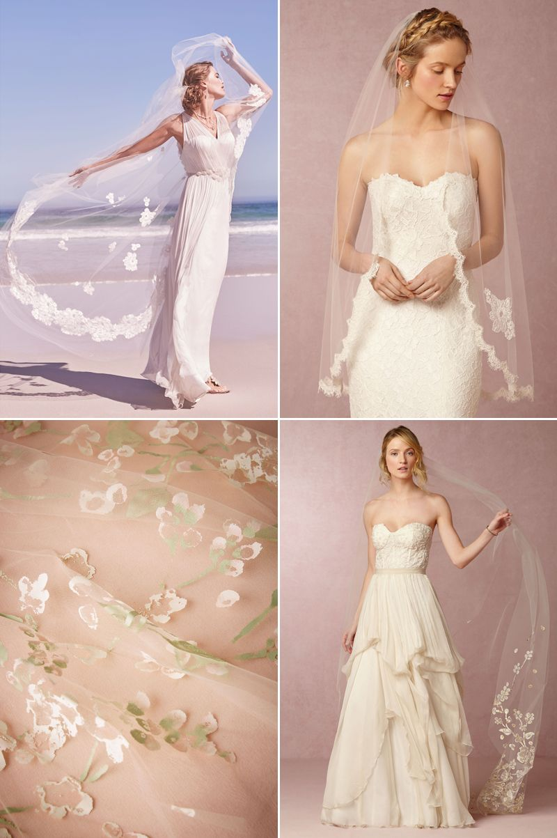 20 Beautiful Wedding Veils with Romantic Lace Details!
