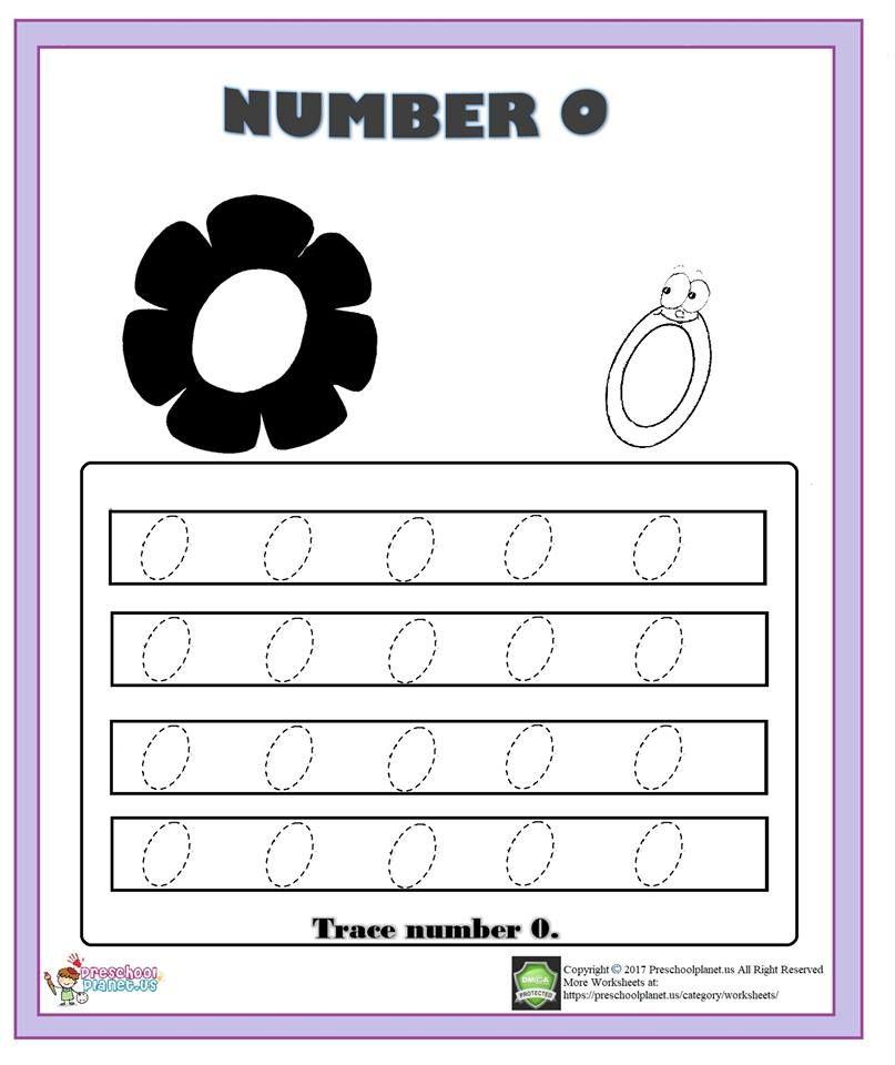 Printable Worksheets number 0 worksheets : number 0 trace worksheet | 0 rakamı çalışma örnekleri | Pinterest ...