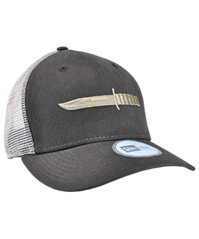 dadb6ae53eb36 Hardcore KA-BAR fans will want to show their pride wearing this chocolate  brown trucker hat. Features the profile of KA-BAR S world-famous USMC ...