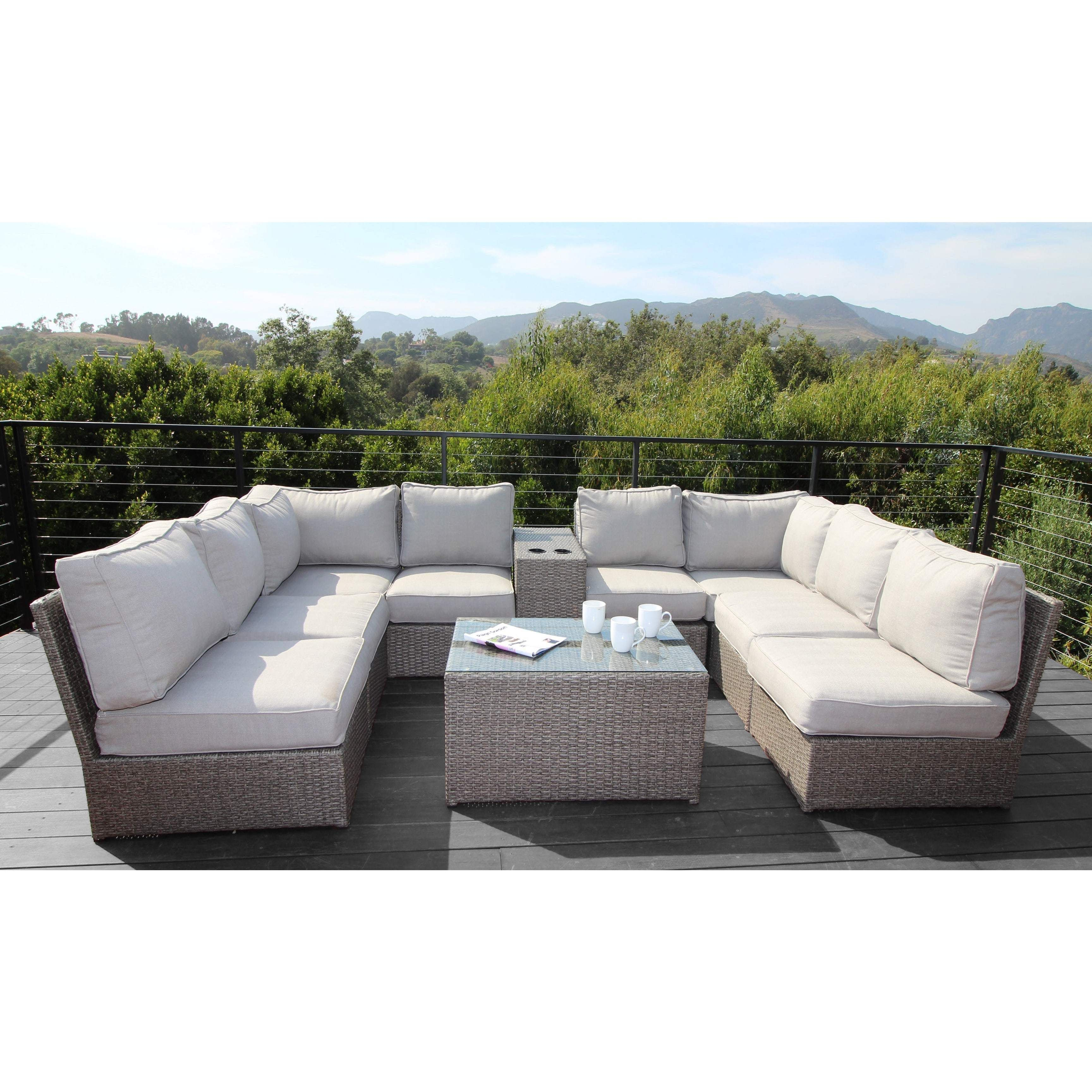 Living Source International Chelsea 10 Piece Cup Table Sectional