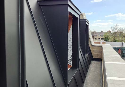 Metal Roofing Services F G Roofing Contractors Zinc Roof Modern House Facades Metal Roof Houses