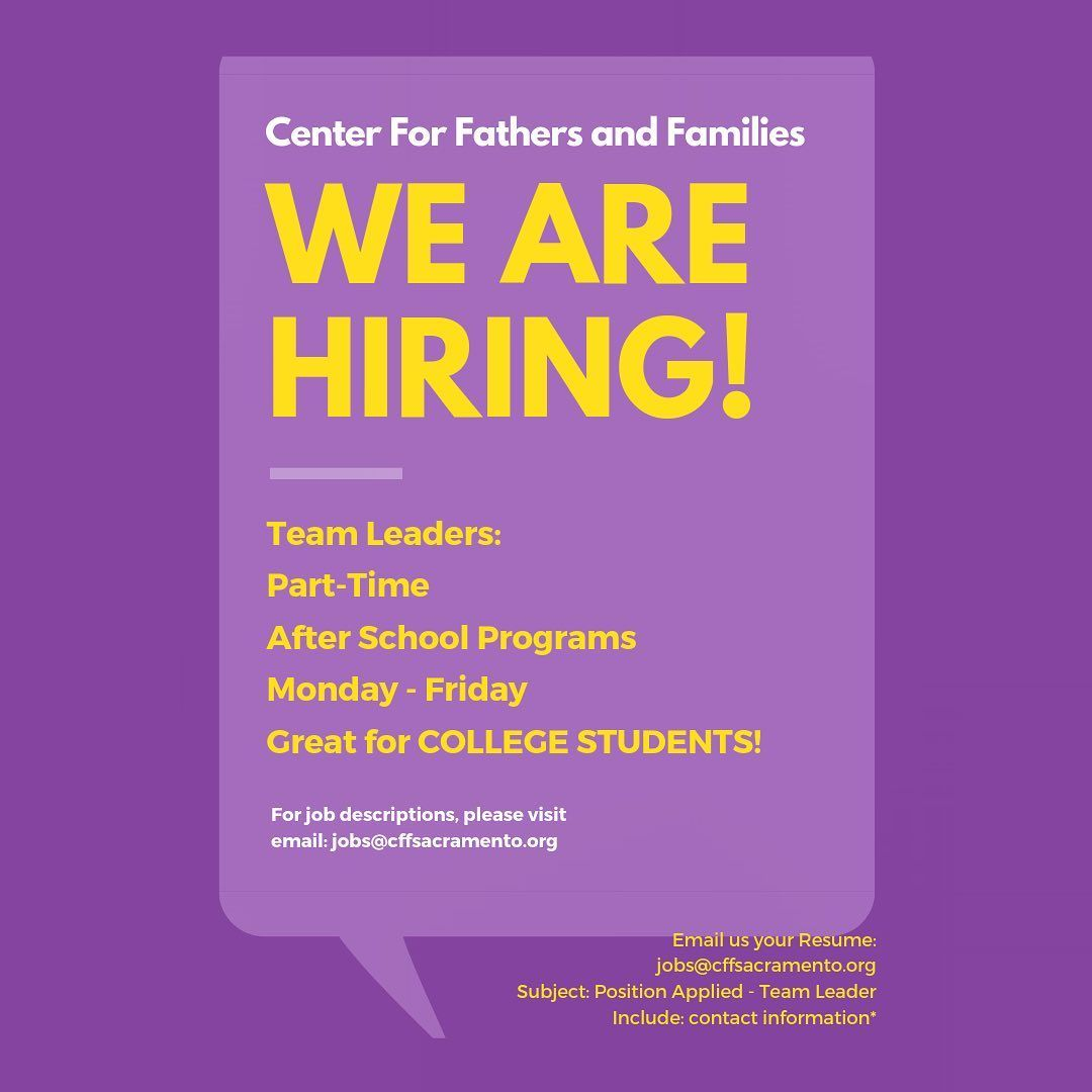 COME JOIN OUR TEAM! We want You! Parttime Afterschool