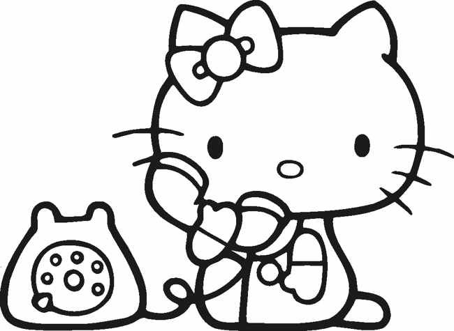 Hello Kitty Black And White Clip Art Clipart Best Hello Kitty Coloring Hello Kitty Colouring Pages Kitty Coloring
