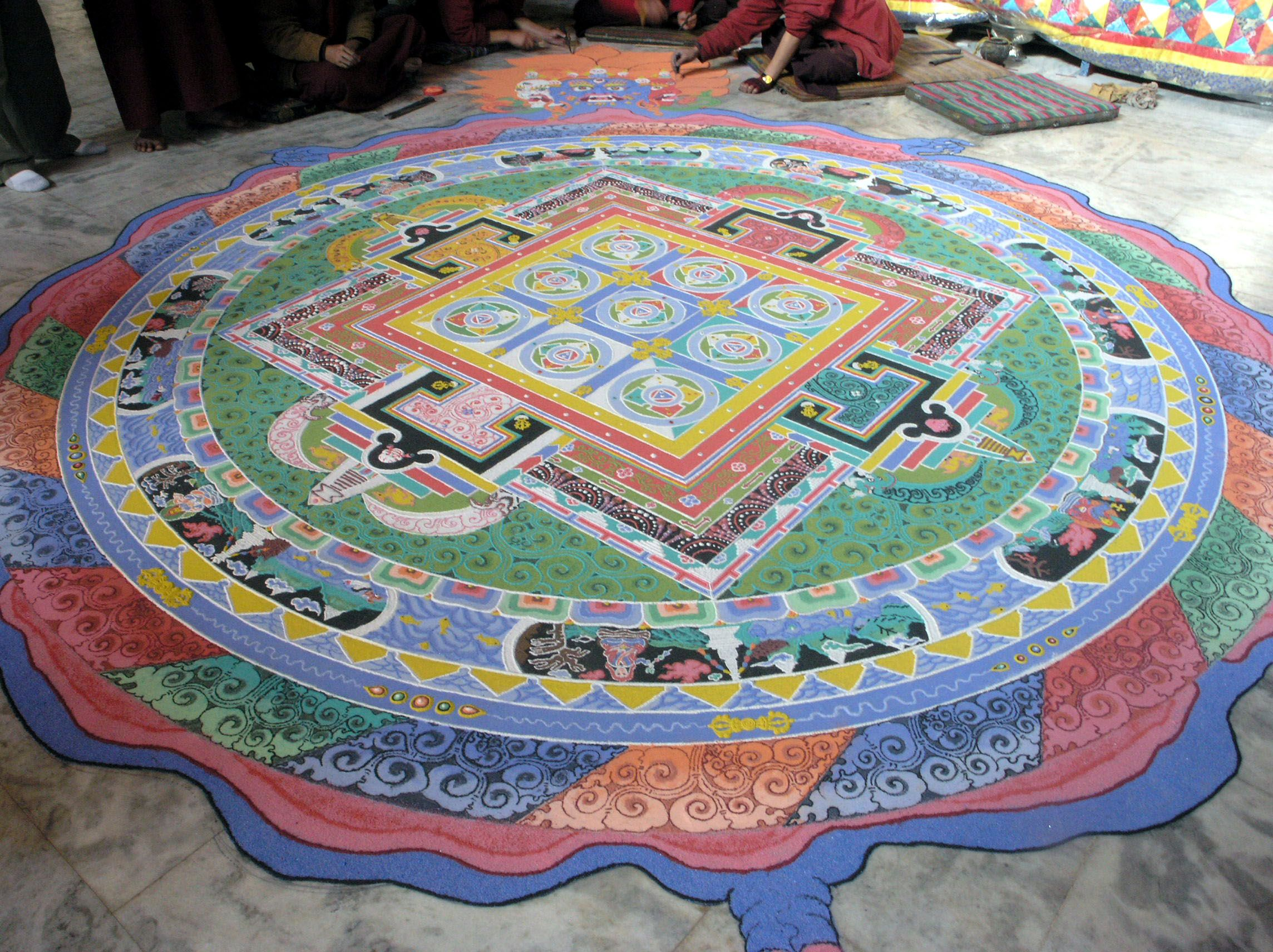 Mandala a buddhist graphic symbol of the universe created from a buddhist graphic symbol of the universe created from colored sand this one biocorpaavc Images