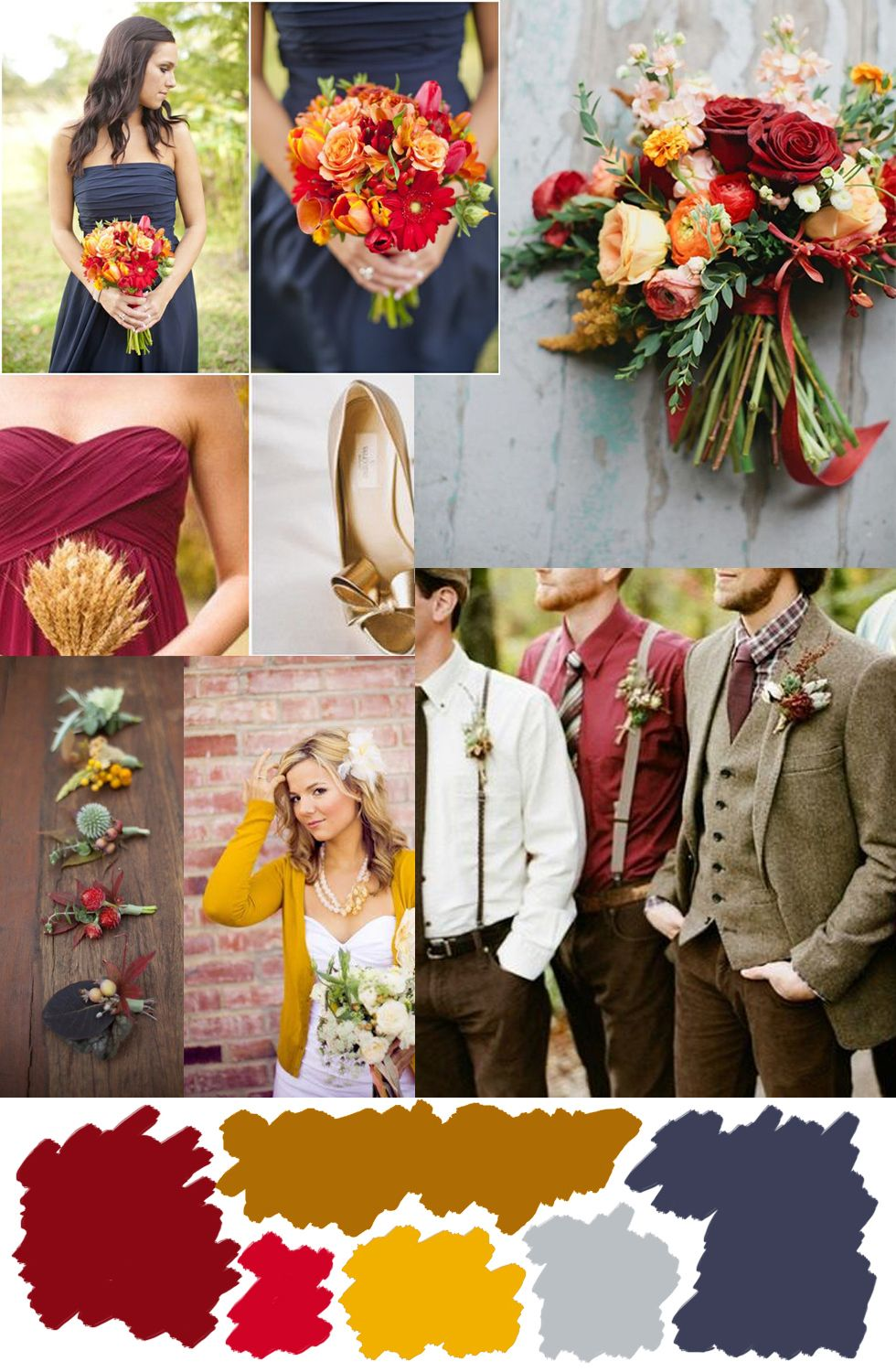 Wedding wednesday fall color palette inspiration alyssa for Best wedding color combinations