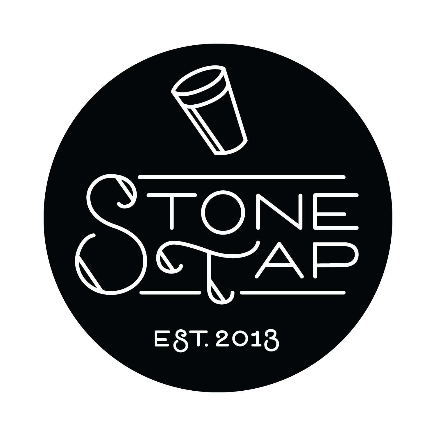 Logo for Stone Tap in Hudson, WI. Graphic design by