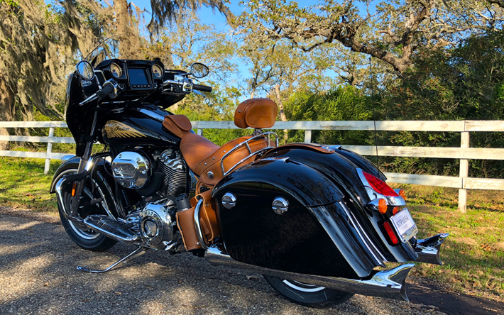 Download Wallpapers 4k Indian Chieftain Classic Road 2018