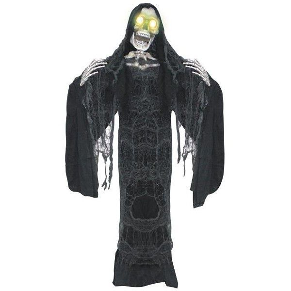 Animated Hanging Black Reaper Scary kids and Halloween costumes - animated halloween decorations
