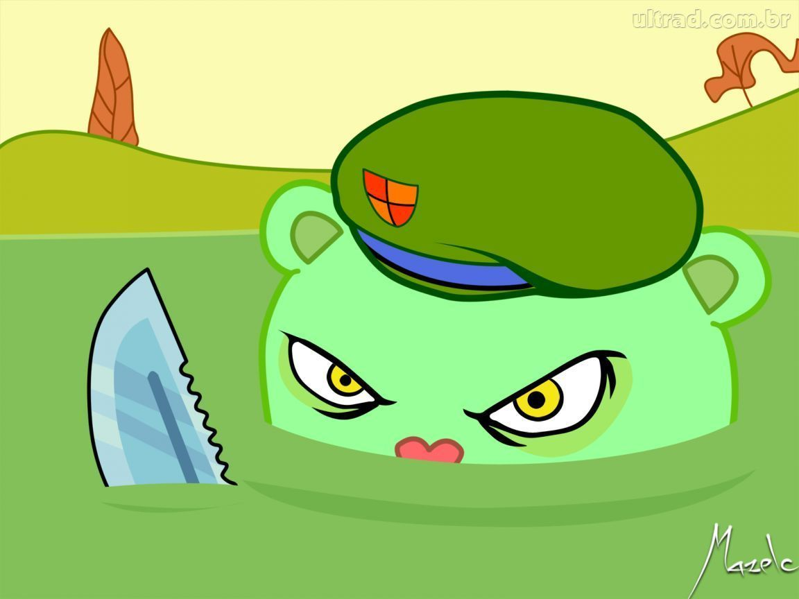 flippy is a character in the cartoon series happy tree friends