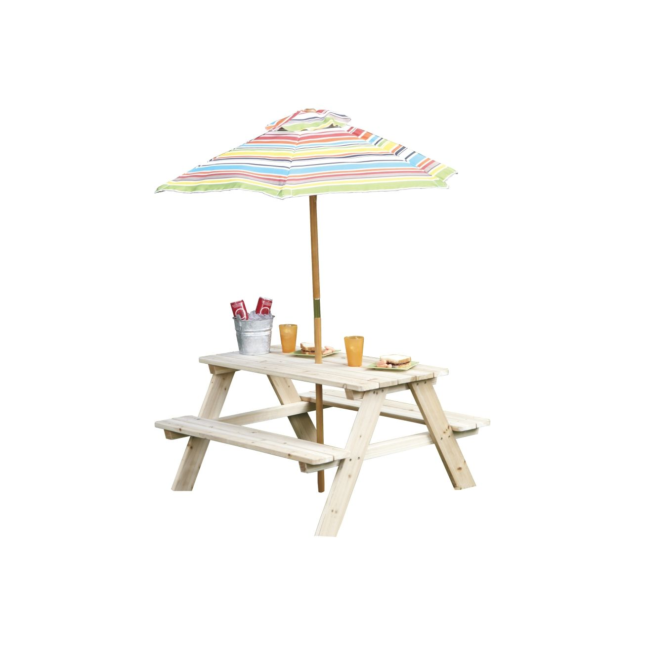 Living Accents Kids Picnic Table With Beach Umbrella Kids Picnic