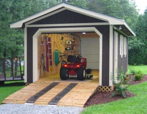 not like this but maybe a ramp is a good idea to incorporate – Design Your Own Garage Plans Free