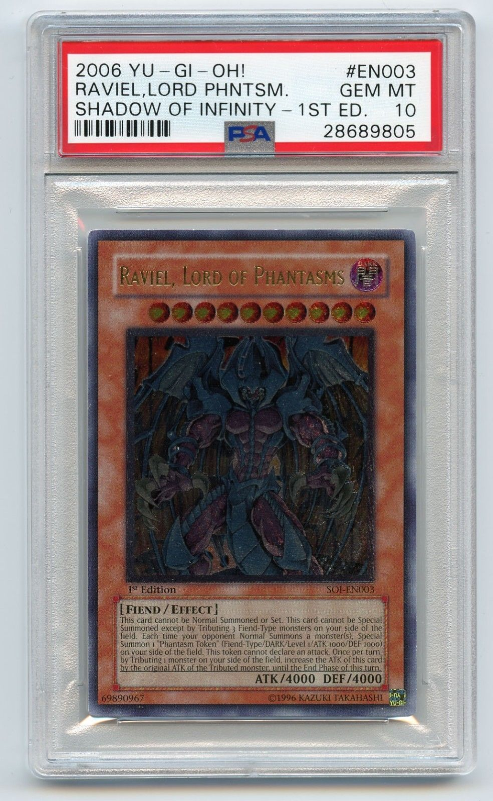 Raviel Lord Of Phantasms Secret Rare Limited Edition