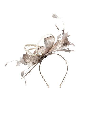 Satin feather fascinator by Mascara. Shop now: http://nava.bi/1DpHynz #navabi #fashion #fascinator #wedding