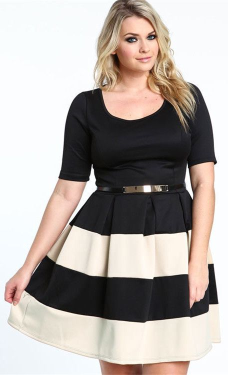 Plus Size Stripe Dress Dss Pinterest Long Sleeve Maxi Naomi