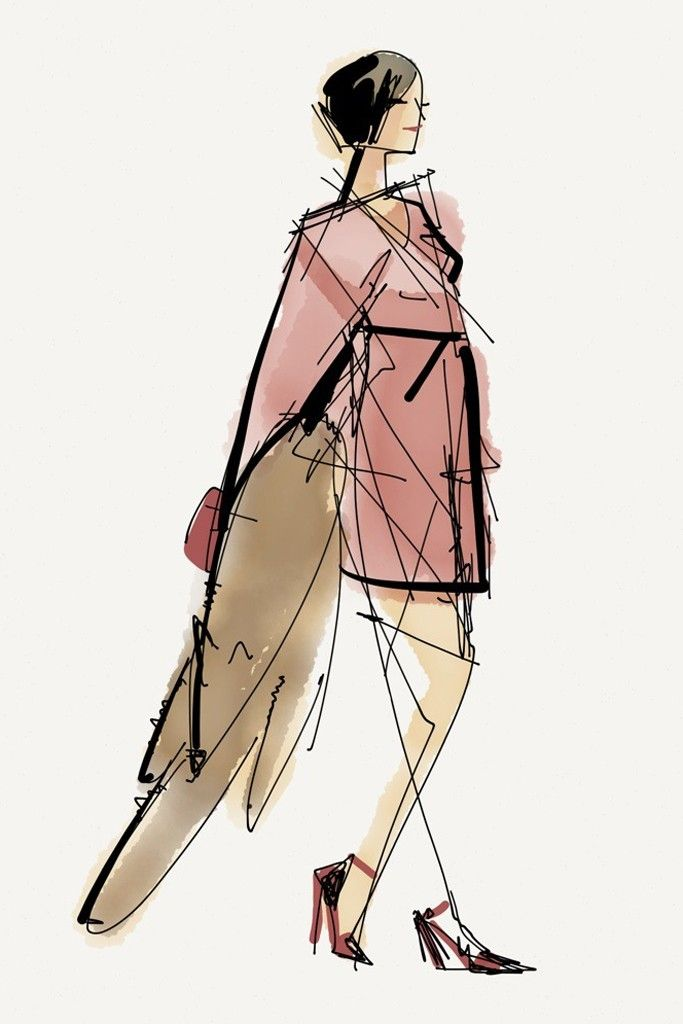 Captivating in pink at Marc Jacobs.  [Photo by Paper by FiftyThree]