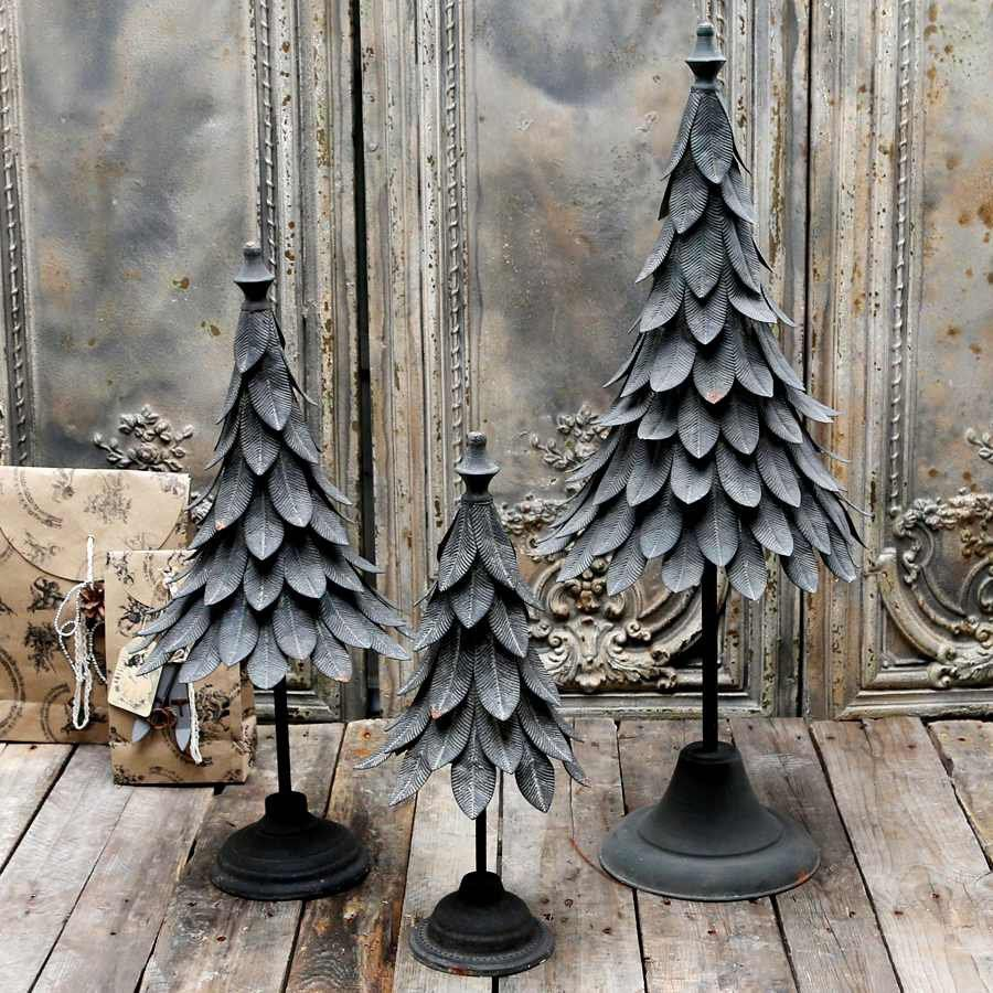 Metalowa Choinka Chic Antique Szara Wysokosc 53 Cm Niemajakwdomu French Christmas Tree French Christmas Grey Christmas Tree
